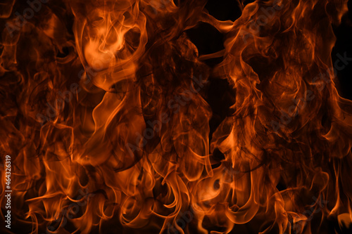 Canvas-taulu Fire flame texture for banner background