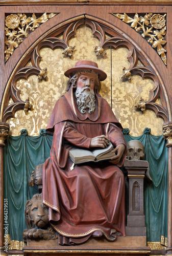 Fototapeta VIENNA, AUSTIRA - JUNI 24, 2021: The relief of St