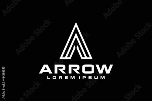 Canvas Initial Letter A Arrow with Arrowhead for Archer Archery Outdoor Apparel Gear Hu