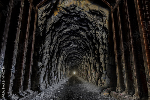 Obraz na plátne Donner Pass Summit train tunnel built for the transcontinental railroad on the route where the first wagon train entered California
