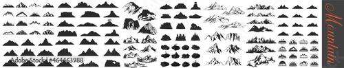 Fotografiet Mountain silhouette , Rocky peaks