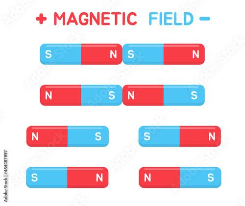 Fotografiet Magnetic Field Vector
