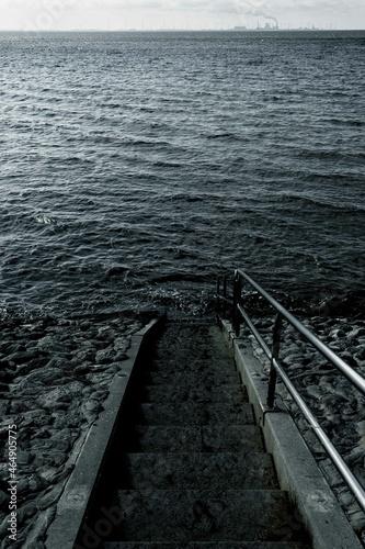 Cuadros en Lienzo Treppe in die Nordsee