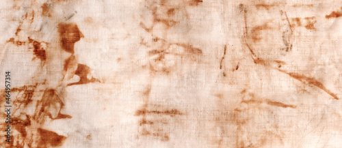 Photo The texture of an old linen cloth, covered with dirt and rust